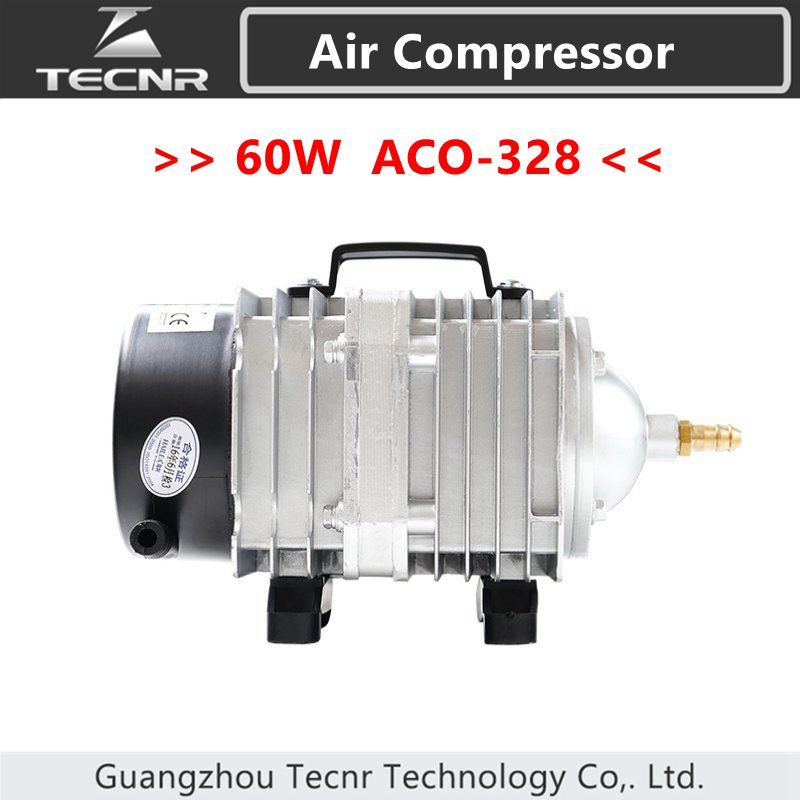 TECNR 60W Air Compressor Electrical Magnetic Air Pump 82L/min for CO2 laser machine ACO 328