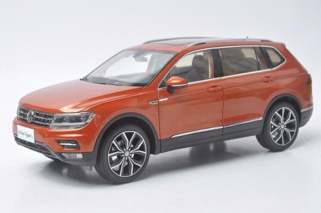 1 18 diecast model for volkswagen vw tiguan l 2017 orange. Black Bedroom Furniture Sets. Home Design Ideas