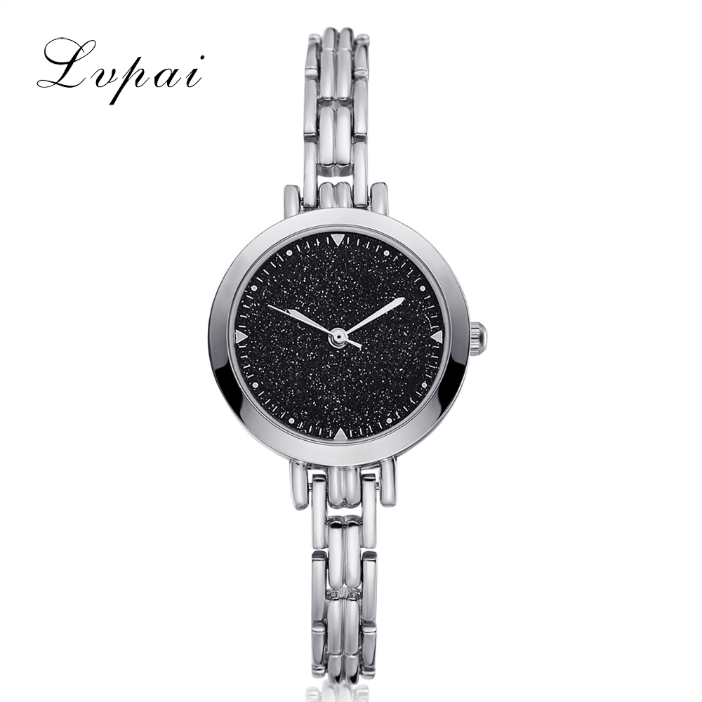 LVPAI Famous Brand Fashion Dress Watches Women Bracelet Watch Quartz WristWatches Luxury Ladies Bracelet Watches Clock LP141 kimio brand women watches luxury ladies quartz watch fashion bracelet watches gold mesh band clock 2017girl s gift wristwatches