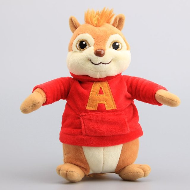 Movie Toys Alvin and the Chipmunks Plush Dolls Cute Chipmunks Stuffed Toys Kids Gift 9