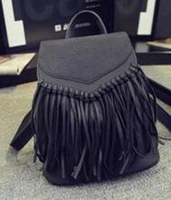 2016 новый модный кисточкой MS рюкзак рюкзак отдых шутник контракт женская сумка сумка