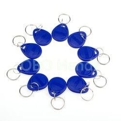 100 قطع 125 كيلو هرتز بطاقة Rfid/الموجودة في قاعدة المفتاح لمراقبة الدخول نظام TK4100 الأزرق سلاسل المفاتيح مفتاح الكلمات ABS للماء