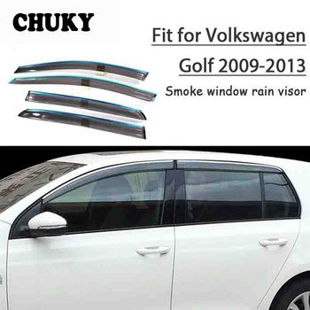 Chuky 4pcs ABS Car Styling Window Visors Awnings Shelters Rain Shield For Volkswagen Golf 6 2009 2010 2011 2012 2013 Accessories