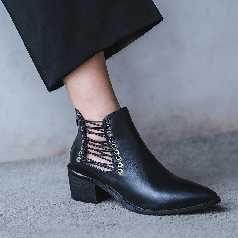 Talons Haute brown Vache Bout Chaussures Pompes Élégant Véritable Chaude Black Vangull Pointu Cuir Haut Retrorubbing De En Femmes Gamme APwxfxqR7
