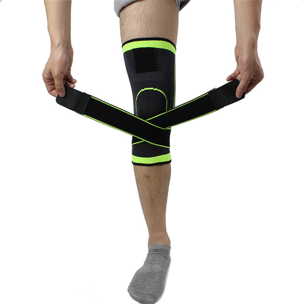 Pressurized weaving basketball tennis hiking cycling brace support 3D knee pads Straps professional protective pad dropshipping