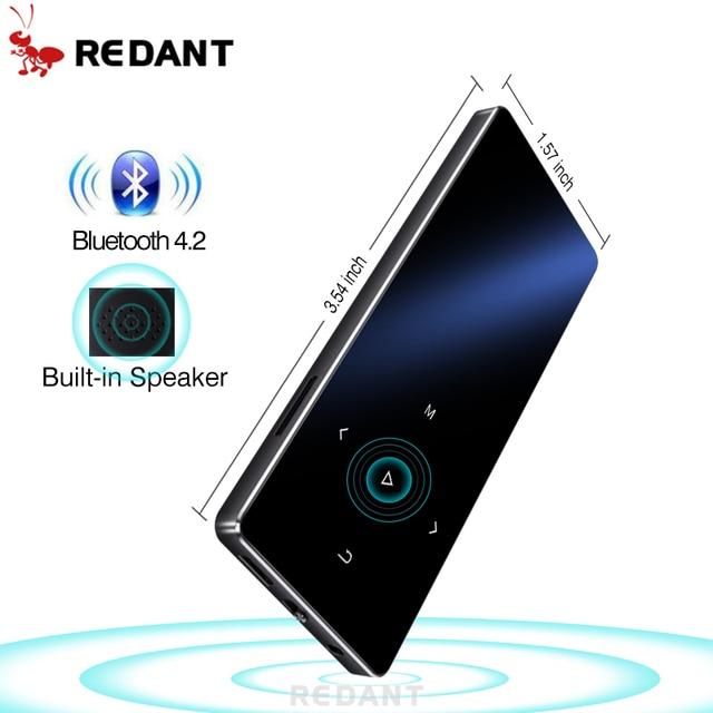 Редант MP3 плеер Bluetooth со встроенным Динамик 1,8 дюймов Экран сенсорных клавиш FM радио голос Регистраторы электронная книга Lossless с функцией подачи Хай-Фай музыки