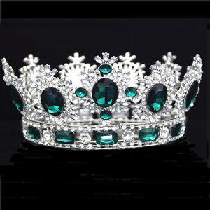 Image 2 - Luxuries Crystal flower Tiara Crown Headdress Prom Queen King crown for Wedding Tiaras and Crowns Hair jewelry Accessories