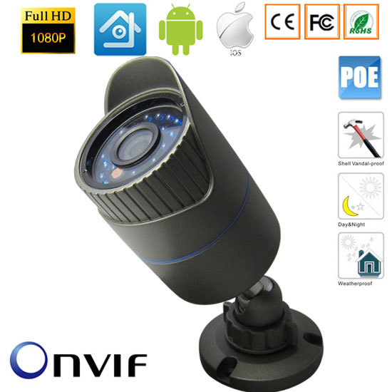 1920x1080P 2.0MP Waterproof Outdoor IR Cut Night Vision Security Network CCTV Onvif  IP 48V POE Camera Support IOS/Andriod View1920x1080P 2.0MP Waterproof Outdoor IR Cut Night Vision Security Network CCTV Onvif  IP 48V POE Camera Support IOS/Andriod View