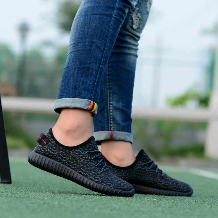 Fine quality mens shoes 2018 Spring Autumn Lovers Shoes Breathable Cloth Weaving Fly Flat Shoes Slip Coconut Shoes Casual Shoes