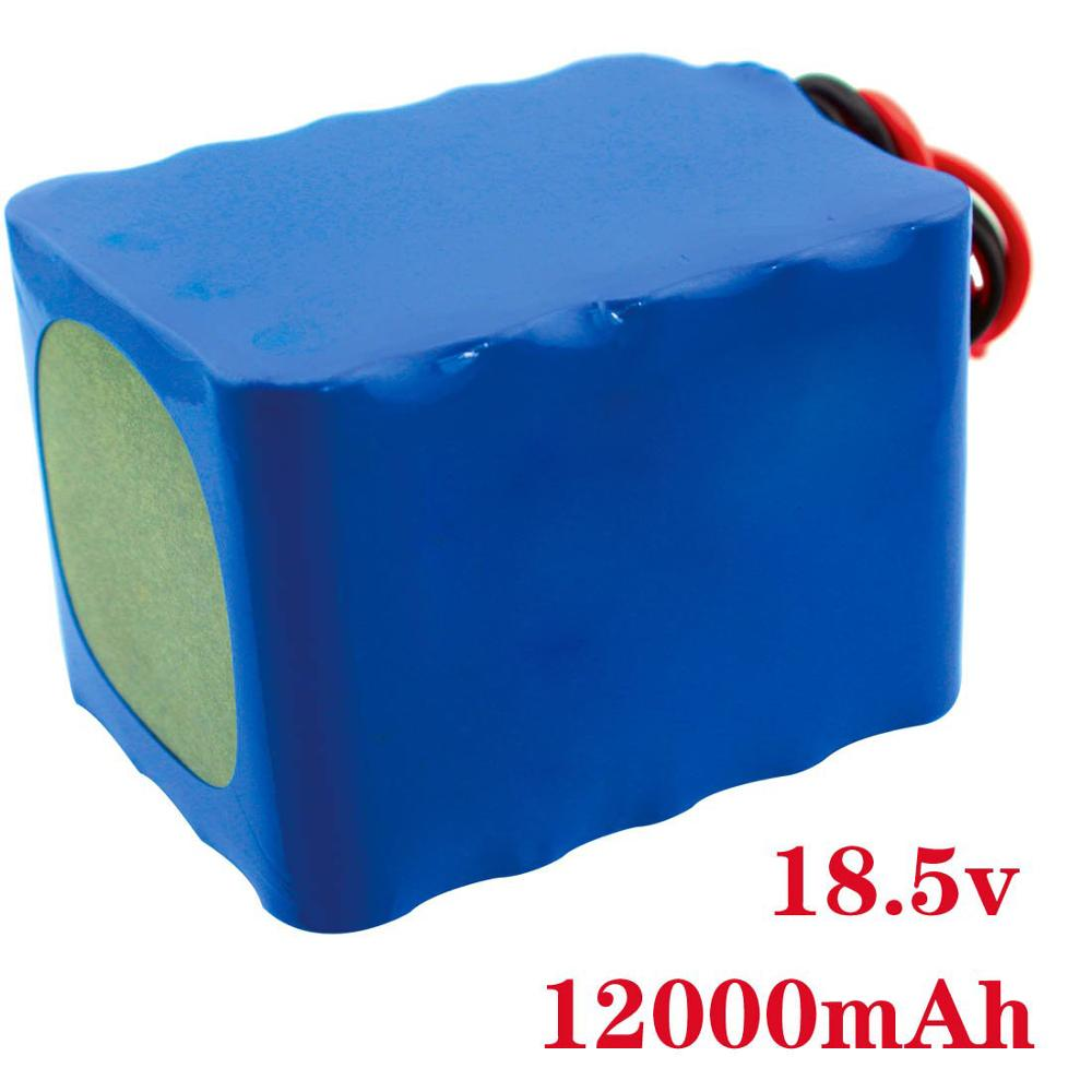 Rechargeable Lithium ion Battery Pack 18.5V 12000mAh For Electric Moped Ebike Scooters Light Bicycle Power Balance Car