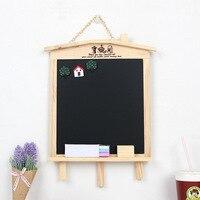 Nueva Corea del Sur moda mini casa soporte de escritorio/colgante magnético Pizarras ventas/mensaje/Pizarras para dibujar madera Juguetes Niño regalo