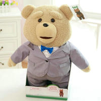 40cm Plush Teddy Bear Ted Movie action figure Teddy Doll toys talking dirty words ted recording Teddy bear Repeater toys