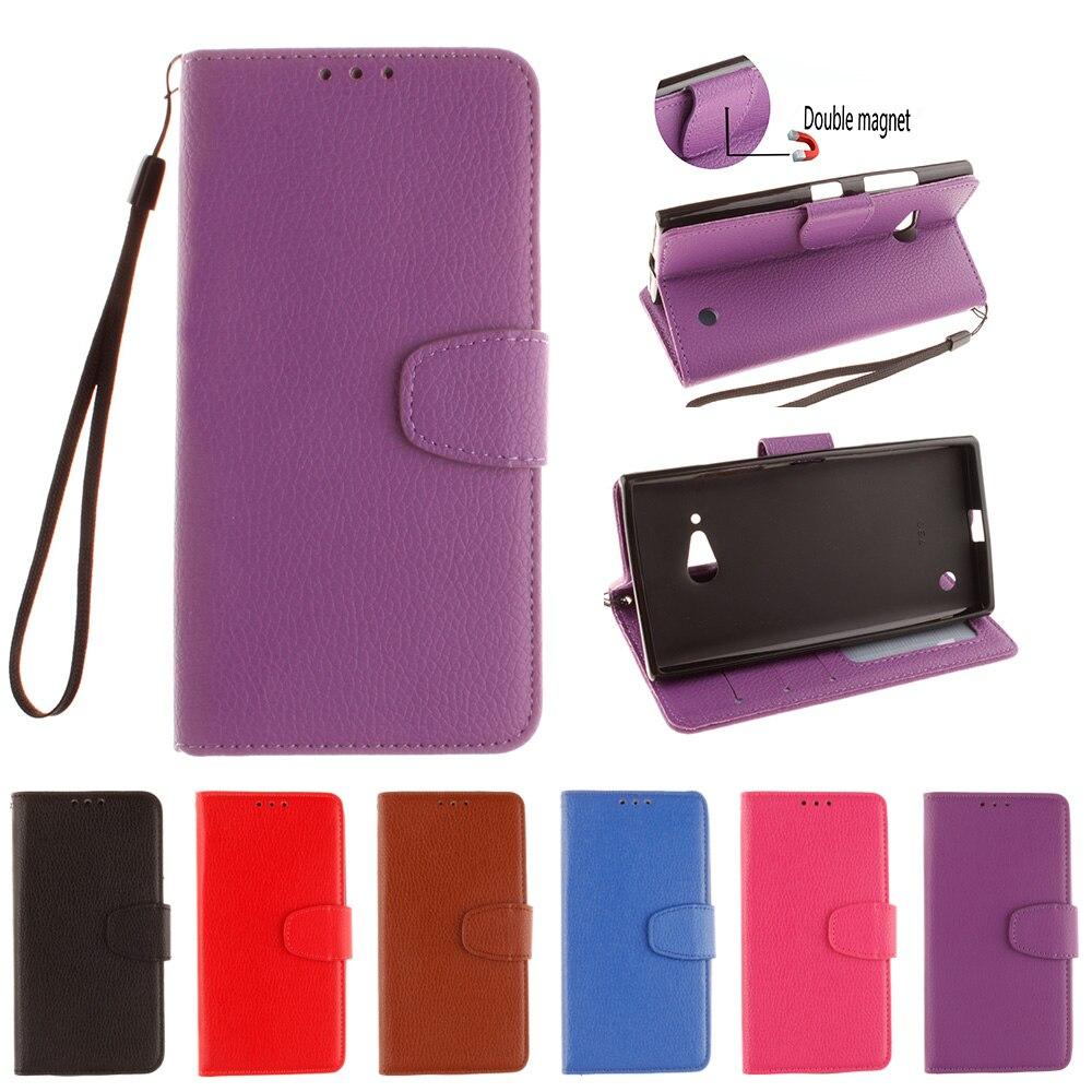 5af21ee4f52 Flip funda para Microsoft Nokia Lumia 730 dual RM-1040 teléfono cubierta de  cuero para Lumia 735 LTE RM-1038 RM-1039 RM-1078 RM-1041 RM