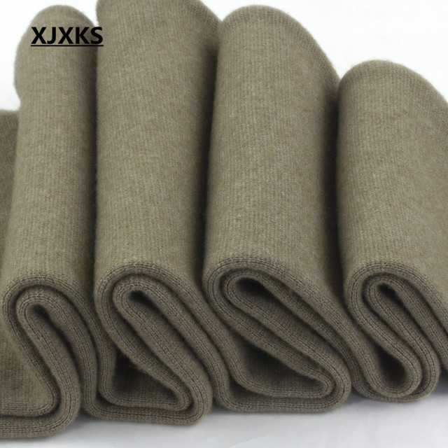 XJXKS Casual 100% Wool Knitted Men's Leggings Elasticity Autumn And Winter Warm M-XXL Comfortable Men Pants 3 Colors 3