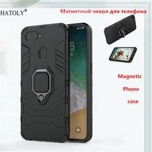 For OPPO F9 Case Cover Magnetic Suction Funda For OPPO F9 Ring Holder Case Armor Back Phone Cover OPPO F9 Pro Phone Case OPPO F9 недорго, оригинальная цена