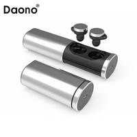 Daono TWS Bluetooth 4.1 True Wireless Stereo earphones headset handsfree earbud with MIC charging box for smartphones