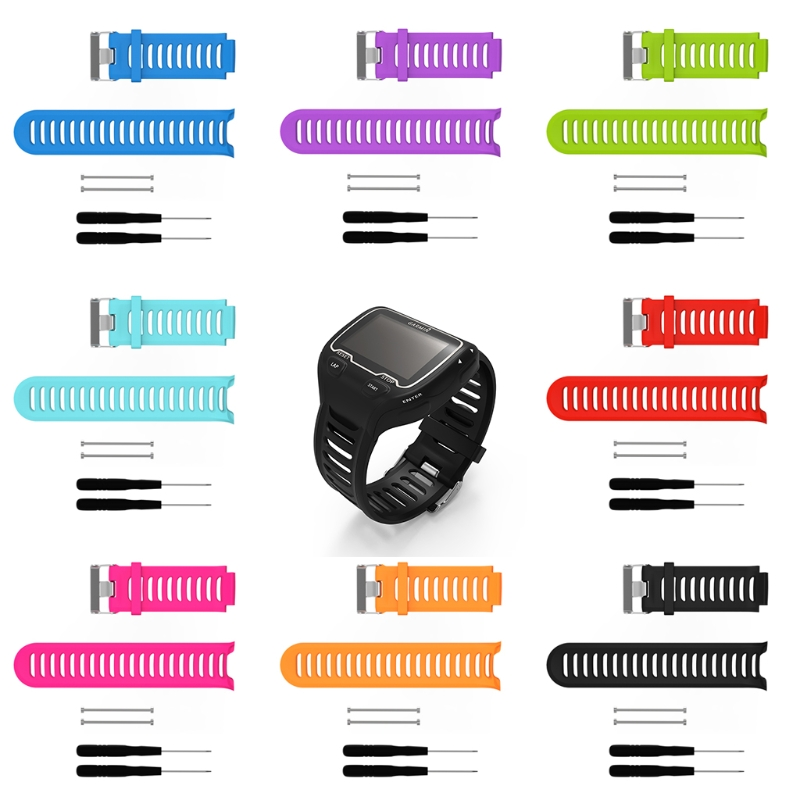Silicone Replacement Wrist Band For <font><b>Garmin</b></font> Forerunner <font><b>910XT</b></font> Sports GPS Watch Drop Shipping Support image