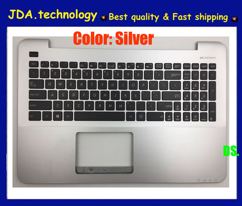 wellendorff       95%New/orig palmrest topcase FOR ASUS X555 X555L A555L F555L K555L VM510L W519L Y583L US keyboard upper cover
