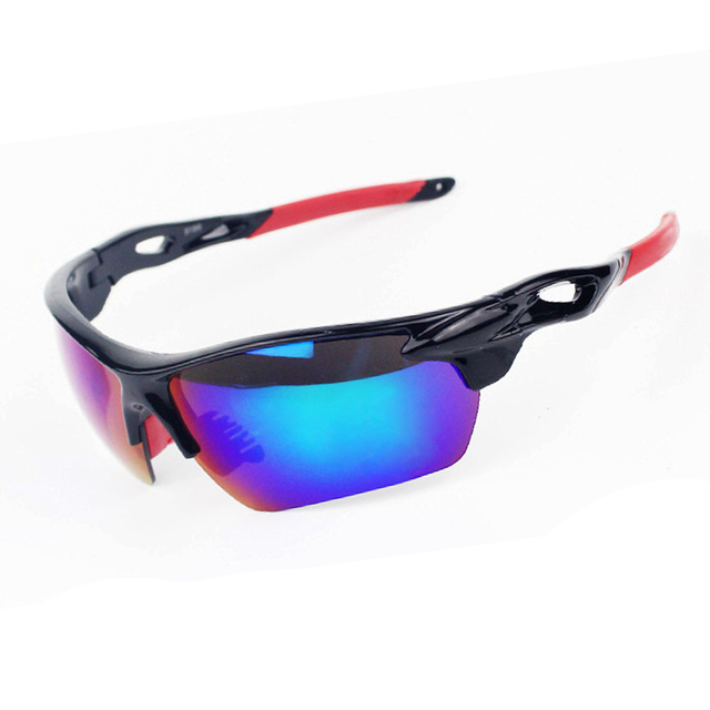 Sale 2 Lenses !  Hot Men Women Polarized Outdoor Cycling Eyewear Sport UV400 Bicycle Sunglasses Bike Tactical Military Goggles