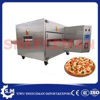 8 H циркуляции горячего воздуха духовка коммерческих запеченные печь пиццу трек пиццы электрическая Плита Пособия по кулинарии конвейер Пи