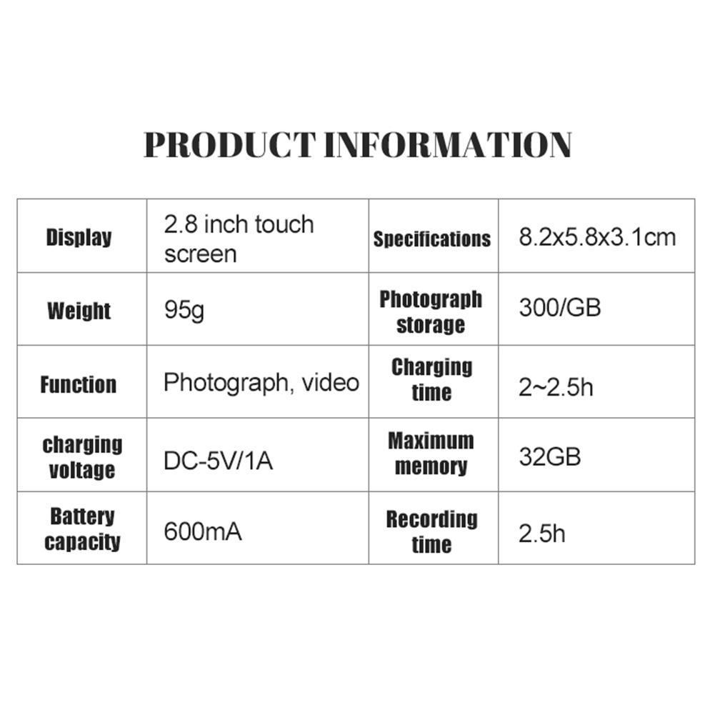 "HTB1tGEca3FY.1VjSZFnq6AFHXXaC Children's Camera 2.8"" IPS Eye Protection Screen HD Touch Screen Digital Dual Lens 18MP Camera for Kids"