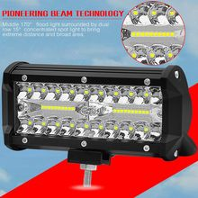 7 Inch 120W two Rows Led Light Bar 6000K 12000LM Car Work Daytime Running Lights Modified Off-Road Roof