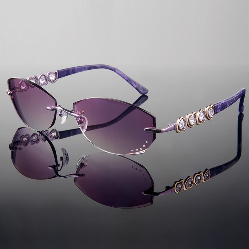 Rimless Eyeglasses With Rhinestones : Online Buy Wholesale prescription glasses frames with ...