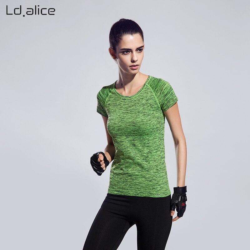 À Séchage rapide S-4XL Plus La Taille De Yoga t-shirt De Compression Serré femmes de Sport Vêtements de Course À Manches Courtes Fitness Femmes T-shirt & Tops