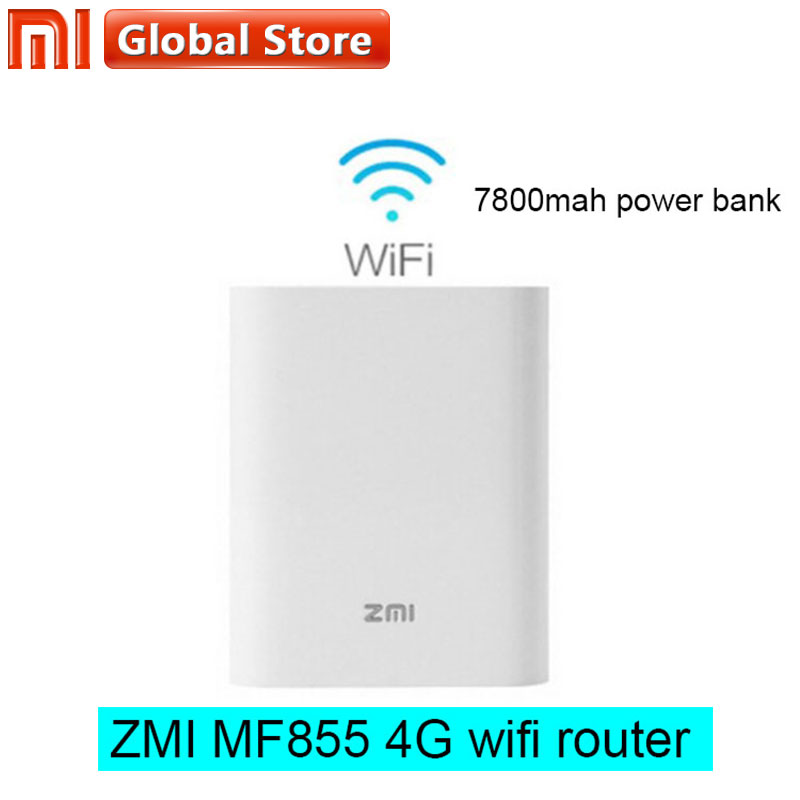 Xiaomi zmi MF855 7800mAh wifi Power Bank 3G 4G Wireless Router power bank Mobile Unicom Telecom 4G LTE Wifi Router power bank ishare candy color 3g wireless router 5200mah mobile power bank storage