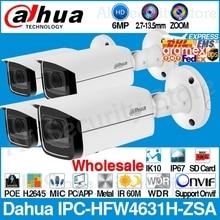 Dahua vente en gros IPC-HFW4631H-ZSA 6MP caméra IP intégré Micro fente pour carte Micro SD 2.7-13.5mm 5X Zoom VF objectif PoE CCTV avec support