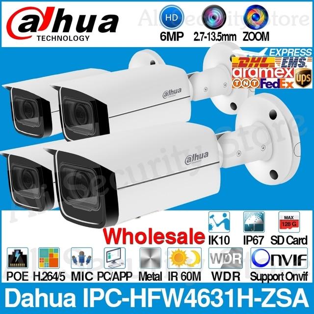Dahua – caméra IP 6MP avec microphone intégré, fente pour carte Micro SD, IPC HFW4631H ZSA 2.7mm, Zoom 5X, objectif VF, PoE CCTV avec support, vente en gros, 13.5 |
