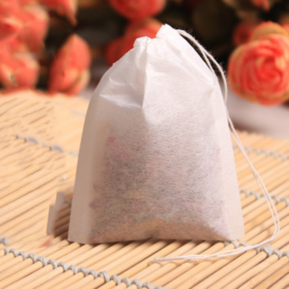 100pcs/set Empty Tea Bag String Heat Seal Filter Paper Herb Loose Disposable Tea Bag Seal Line For Home And Travel Necessities