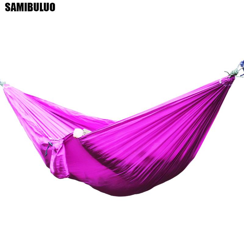 Double 2 Person Leisure Travel Parachute Hammocks Outdoor Hammock Garden Camping Sports Home Travel Hang Bed
