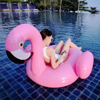 Air Inflatable Flamingo Pool Float Circle Mattress Swimming Float Inflatable Pool Ring Toys for piscina Summer Toy