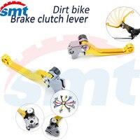 Latest Style Motocross Accessories CNC Pivot Brake Clutch Levers Golden For KAWASAKI KLX250 D-TRACKER 93-00 01 02 03 04 05 06 07