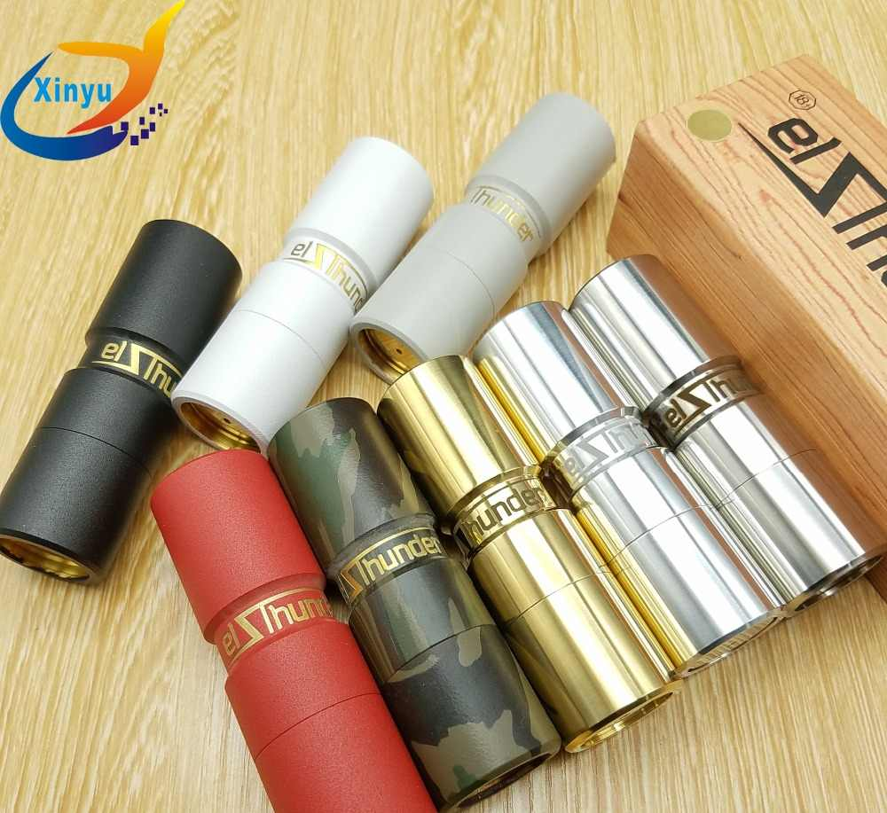 NEWEST Combat Elthunder Mod Electrode structure spring button mechanical mod 510 thread 18650 battery 24mm diameter for RDA TANK