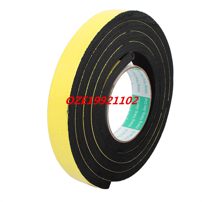 25mm Width 10mm Thickness Single Side Self Adhesive Shockproof Sponge Foam Tape 2 Meters Length 2pcs 2 5x 1cm single sided self adhesive shockproof sponge foam tape 2m length