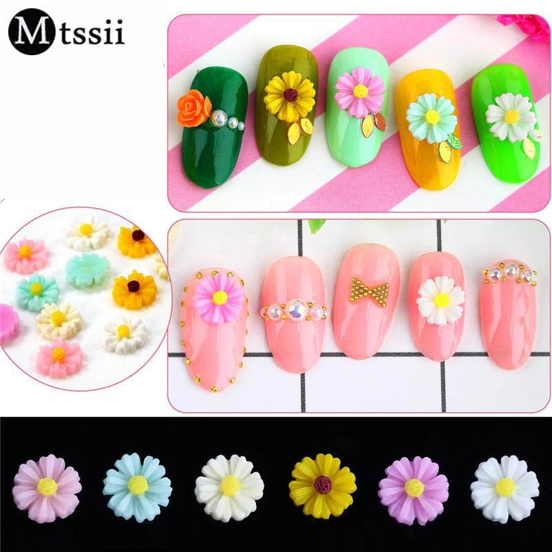 Mtssii 1pc sequins flowers acrylic 3d nail art rhinestone for Acrylic nail decoration supplies