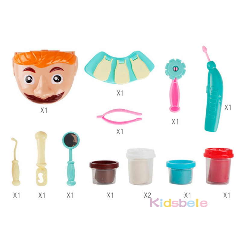 Doctor Toys For Children Pretend Play Toy Dentist Check Teeth Model Set Medical Kit Role Play