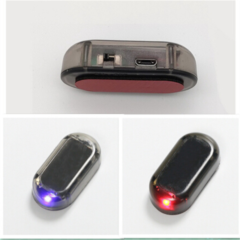 Home Honesty Kebedemm Car Warning Signal Led Light Security System Warning Theft Flash Blinking Fake Solar Car Alarm Led Light