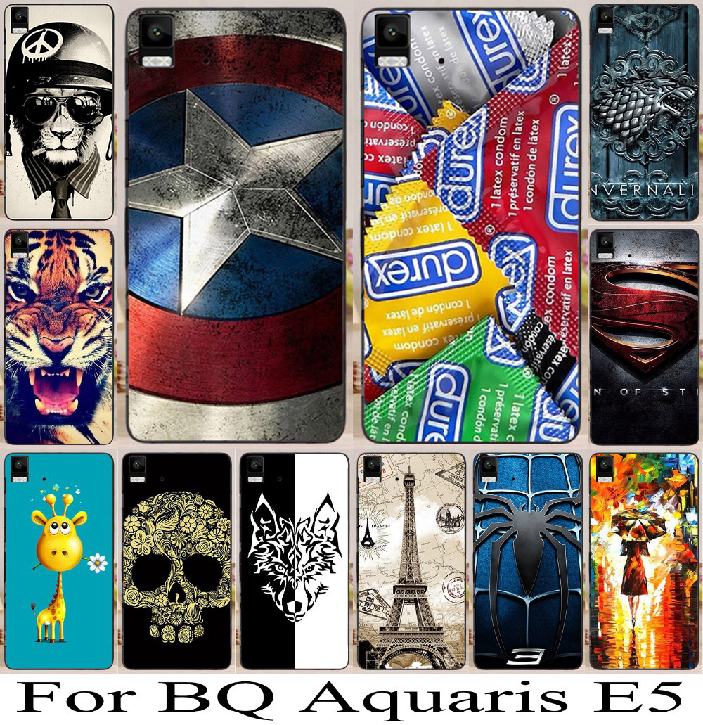 Hard Plastic Phone Case Cover For Bq Aquaris E5 Case Cover Shell E5 3G & 4G Phone Cases Back Cover Housing