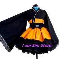 Anime Naruto Uzumaki Naruto Lolita Kimono Kleid Cosplay Kostüm Nach Maß