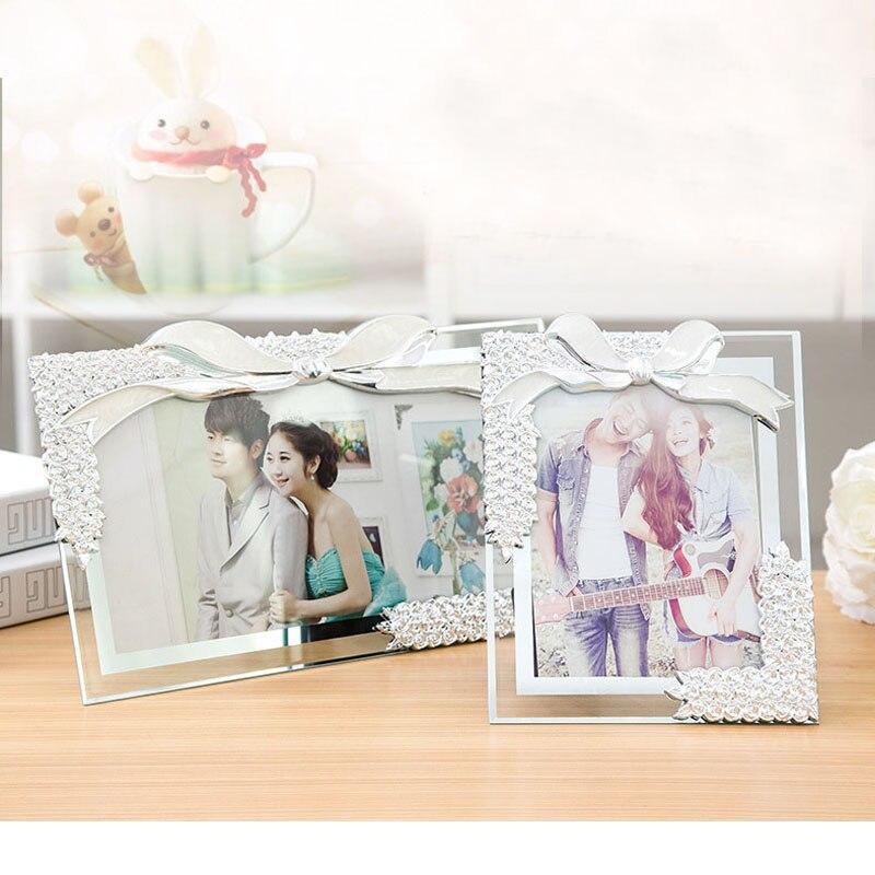 pulgadas de cristal marco adecuado para regalos de boda