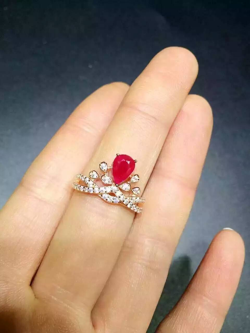 Natural red ruby stone Ring Natural gemstone ring 925 sterling silver trendy personality Crown womens wedding gift JewelryNatural red ruby stone Ring Natural gemstone ring 925 sterling silver trendy personality Crown womens wedding gift Jewelry