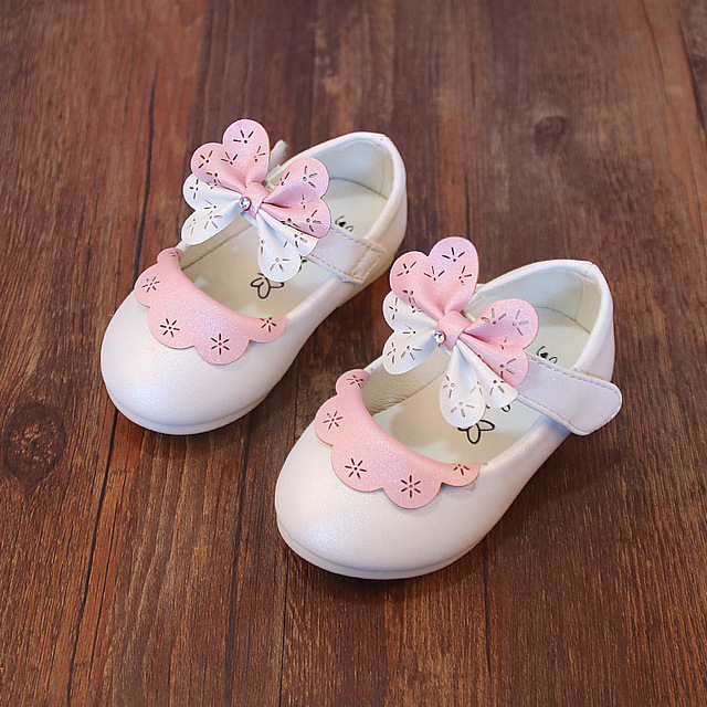 Princess Baby Sandals Summer 2017 Children's Sandals For Girls Newbrons Crystal/Flowers/Bowtie Baby Girl Sandals Shoes A02221