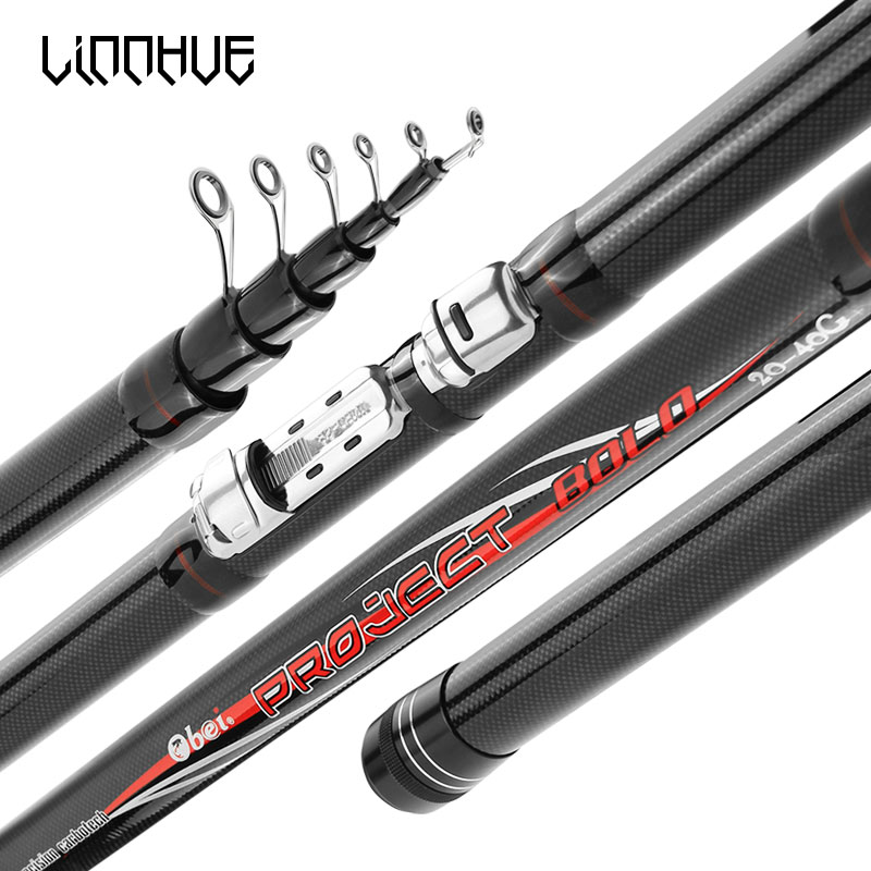 LINNHUE Bolo Lure Rod 3.8M/4.5M/5.2M/6.0M Telescopic Carbon Fiber Spinning 5-8 Sections Fly Fishing Tackle Sea fishing Bolo rods
