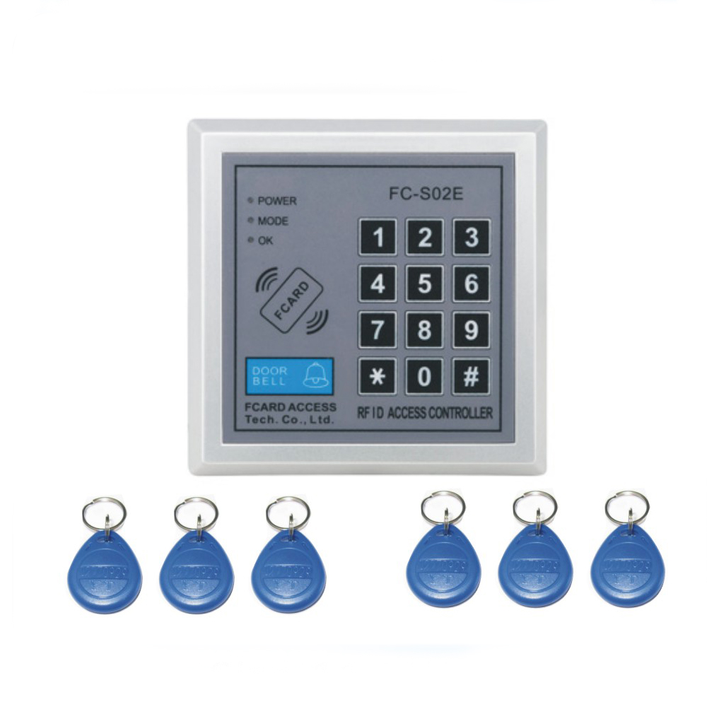 Free shipping integrated circuit FC-S02E password+ 125KHZ RFID EM  Access control system /access control machine +5 keyfob