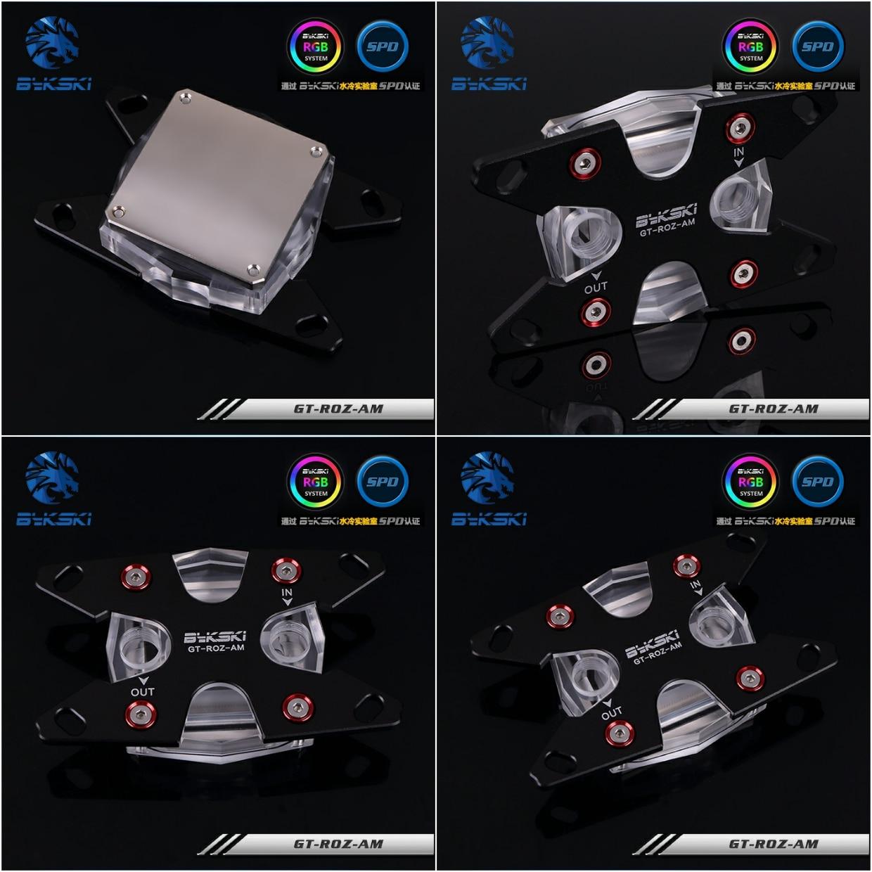 Bykski GT-ROZ-AM L'eau De Refroidissement CPU Bloc pour AMD AM2 AM3 AM4 Ryzen Noir