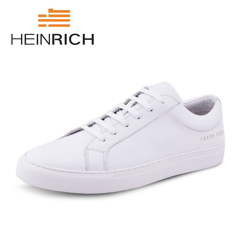 HEINRICH Autumn Mens Leisure Flats Shoes Fashion Outdoor Brand Lace Round Toe Board Shoes Breathable Unique Men ShoesHEINRICH Autumn Mens Leisure Flats Shoes Fashion Outdoor Brand Lace Round Toe Board Shoes Breathable Unique Men Shoes