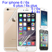 20pcs Front Back High clear glossy screen protector film For iphone X 8 Plus 7 Plus 6 6s 5 5s 4 4s 6plus protective film